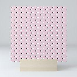 Minimal Squares - Dusty Rose Mini Art Print