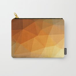 Shades Of Orange Triangle Abstract Carry-All Pouch