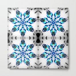 Enchanted Frozen Snowflakes Metal Print