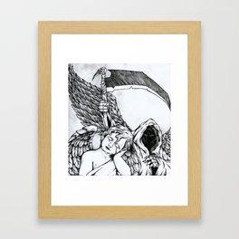 Death Is Everywhere Framed Art Print