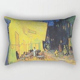 Café Terrace at Night by Vincent van Gogh Rectangular Pillow
