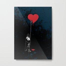 Heart Painter Graffiti Love Metal Print