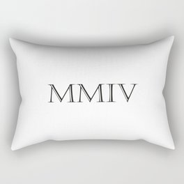 Roman Numerals - 2004 Rectangular Pillow