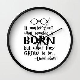 Dumbledore Quote HarryPotter Wall Clock