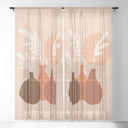 Abstraction_Still_Life_Bohemian_Minimalism_002 Sheer Curtain