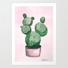 Candy Cactus Art Print