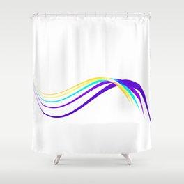Flow minimal - blue Shower Curtain