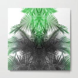 green and gray fern Metal Print