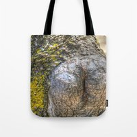 humor Tote Bags featuring Tree Humor by Christia Caldwell Moody