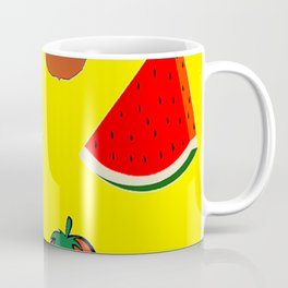 Summer fruits yellow pattern Coffee Mug