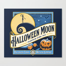 Halloween Moon Canvas Print