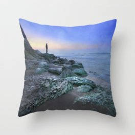 """Evening view"" Throw Pillow"