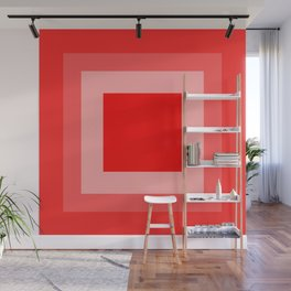 Red Square Design Wall Mural