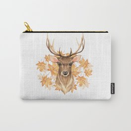 Watercolor Foliage Deer Carry-All Pouch