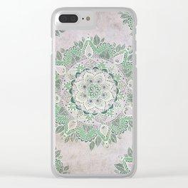 Spring Rain Mandala Clear iPhone Case