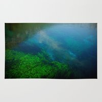 underwater Area & Throw Rugs featuring underwater by habish