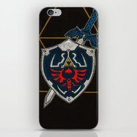 shield iPhone & iPod Skins featuring Shield  by Jennifer Dillon