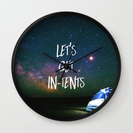 Let's Get In-Tents Wall Clock