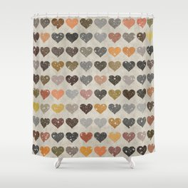 Hearts Shower Curtain