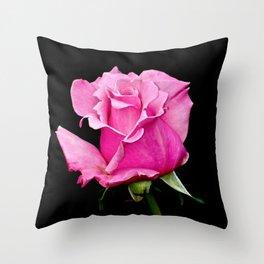 Romantic Pink Rosebud Throw Pillow