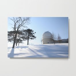 Winter at The Observatory - color Metal Print