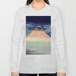 Red Fuji Mountain. Gaifû kaisei. Katsushika Hokusai. Ôban yoko-e Long Sleeve T-shirt