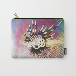 """""""Night Lion"""" Deep Sea Creature Painting , American contemporary wall Art, prints, canvas decor Carry-All Pouch"""