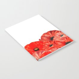 Poppies on White Notebook