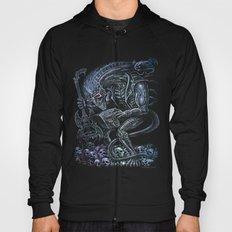 Alien Punk Rocker Outer Space Monster  Hoody