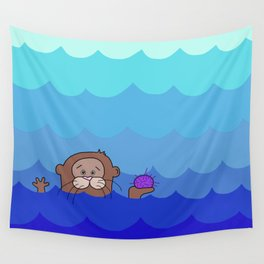 Otterly Delightful Wall Tapestry