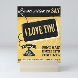 Say I Love You Mini Art Print