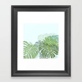 Monstera's love Framed Art Print