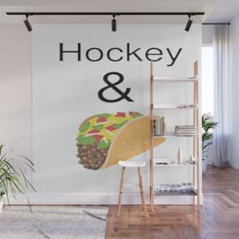 Hockey & Taco (with Taco Clip Art) Wall Mural
