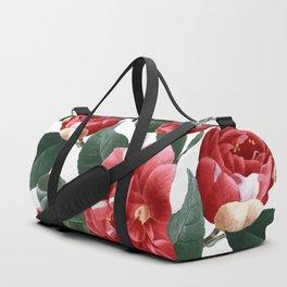 RED FLOWERS - digital Duffle Bag