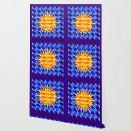 Sunsharks On Blue. Wallpaper