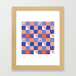 Florida University gators swamp life varsity team spirit college football quilted pattern gifts Framed Art Print