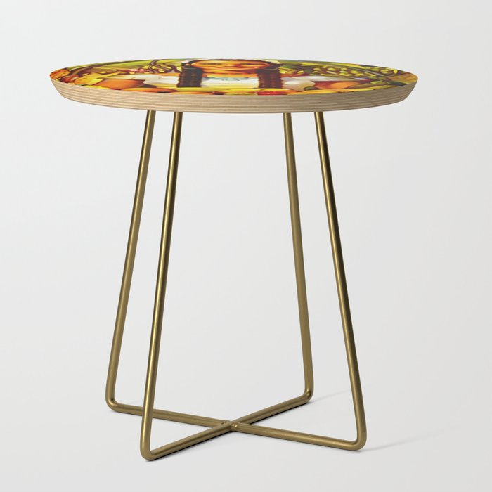Vintage Bountiful Mexico Travel Side Table