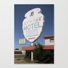 Tucumcari: Apache Motel Canvas Print