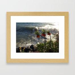 Lakeside Flowers III Framed Art Print