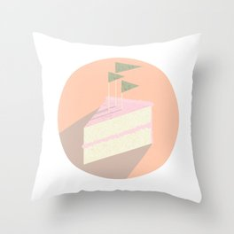 Always room for cake Throw Pillow