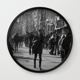 An ordinary day in Amsterdam Wall Clock