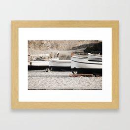 Mediterranean Boats Framed Art Print