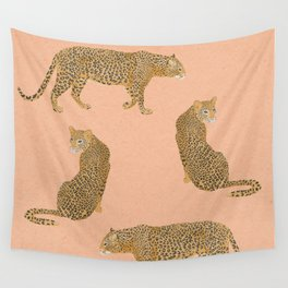 sunset leopards Wall Tapestry
