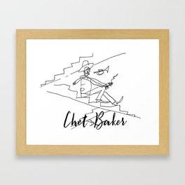 Chet - Great Jazz Musician Framed Art Print