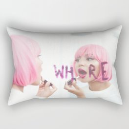 Wh re Rectangular Pillow