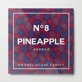 Pineapple N8 Metal Print