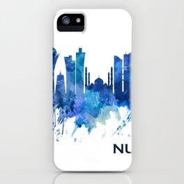 Nur-Sultan Kazakhstan Skyline Blue iPhone Case