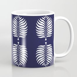 TROPICAL PALMS . BLUE + WHITE Coffee Mug
