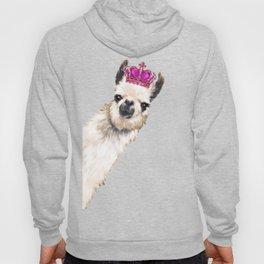 Llama Queen in Pink Hoody