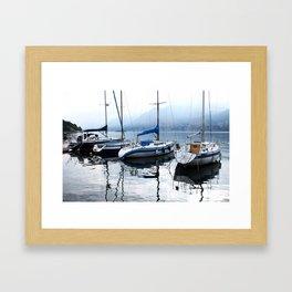 Boats on Lake Garda Framed Art Print